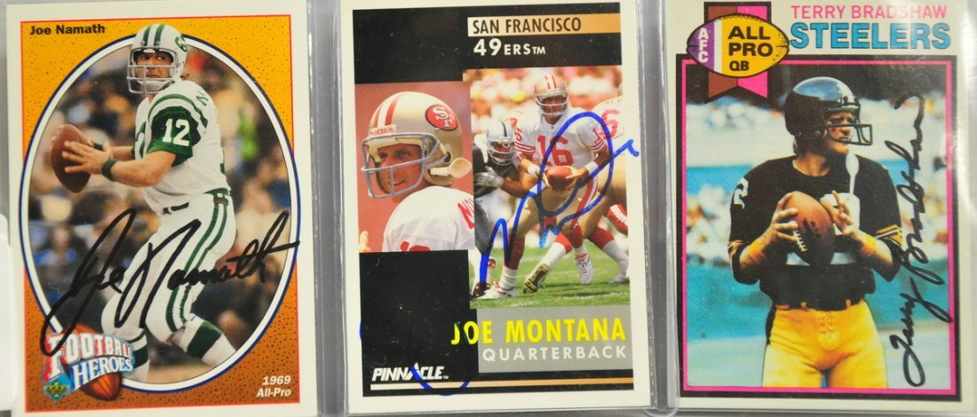 Three Autographed cards