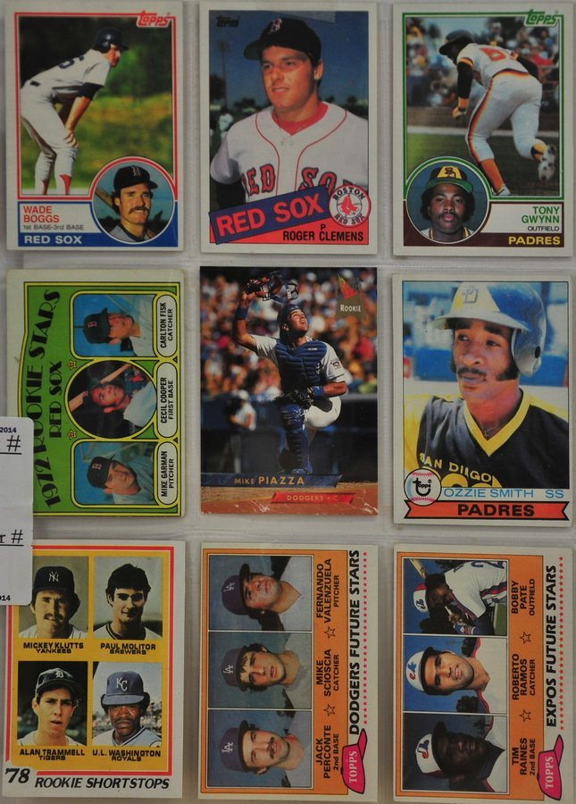 9 1970's and 1980's Rookie Cards