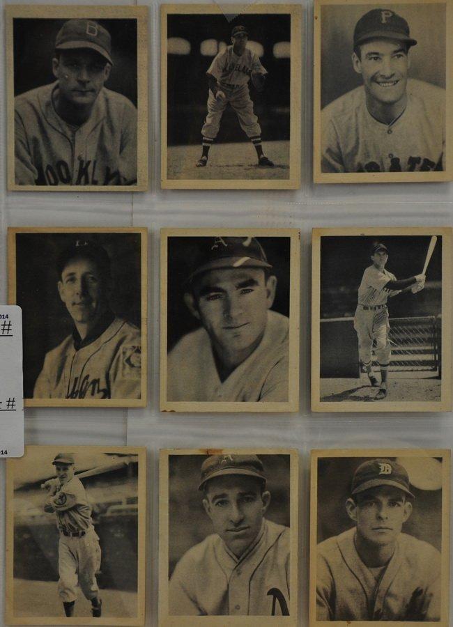 9 1939 Playball cards
