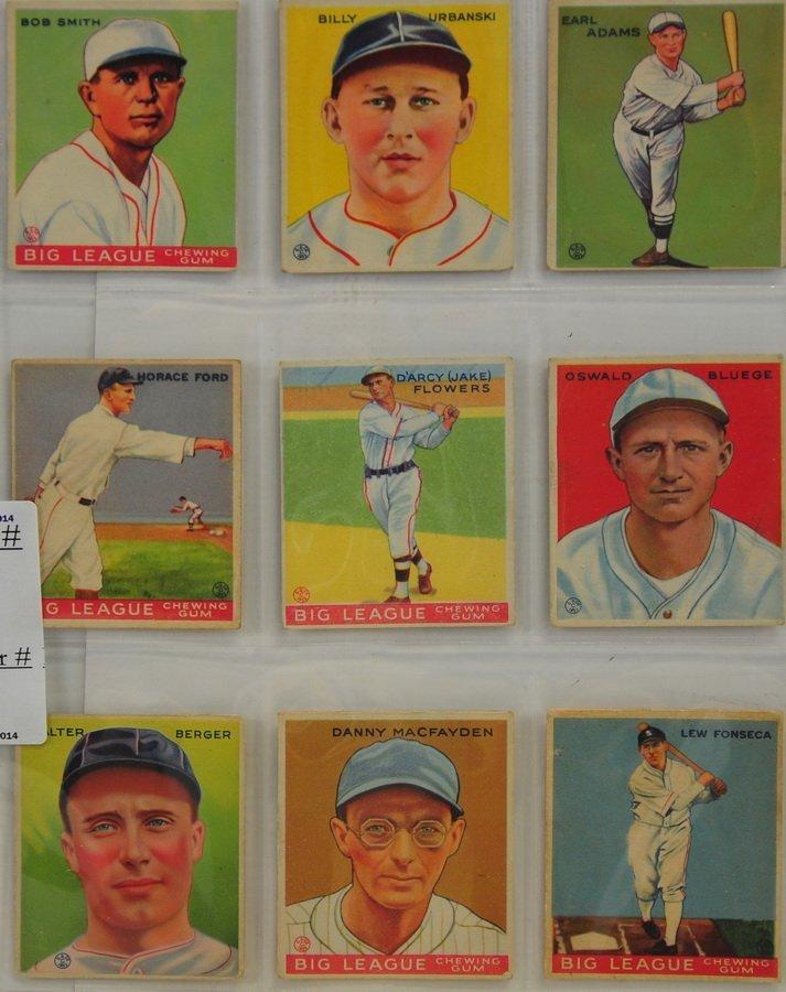 9 1933 Goudey Baseball Cards