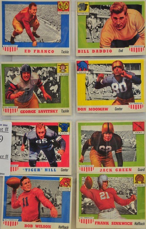 8 1955 Topps All-American Football cards