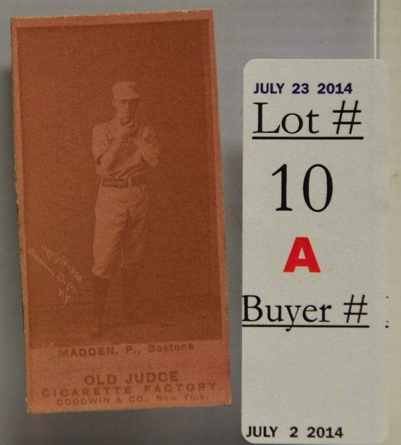 1887 Old Judge Kid Madden card