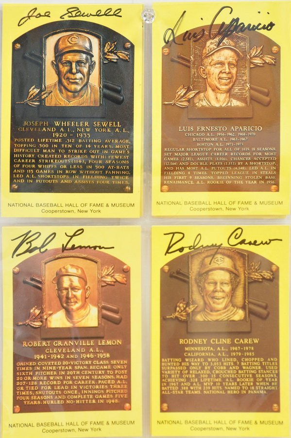 8 Hall of Fame Autographed Plaque Cards