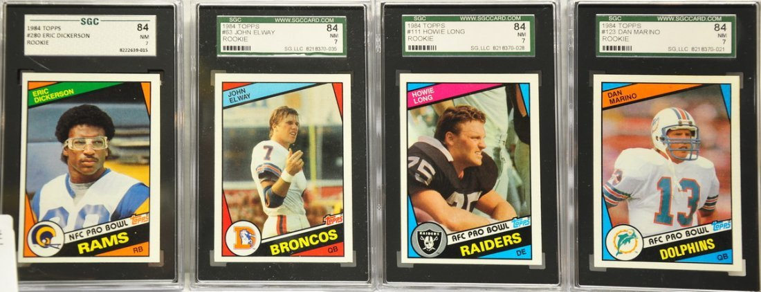 Lot of 5 1984 Topps Graded Football Rookies