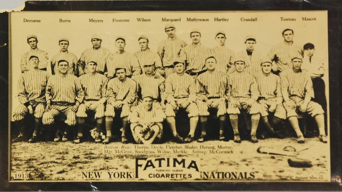 1910 New York Nationals Fatima card