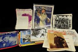 Collection of old ephemera and sheet