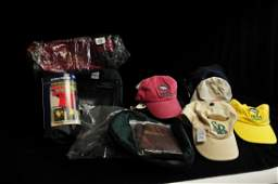 Collection of fishing accessories to include