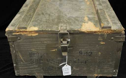 old wooden ammo box says 308 winchester