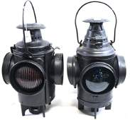 Pair of Antique Railroad Lanterns