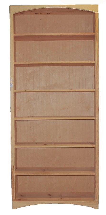 6 Shelf Pine Unfinished Bookcase 84x36