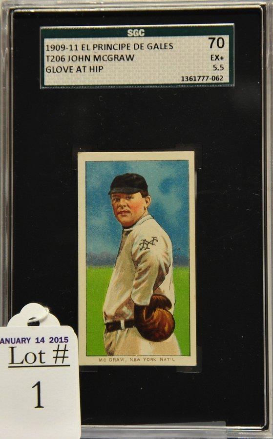 1909 -11 T-206 John McGraw Glove At Hip