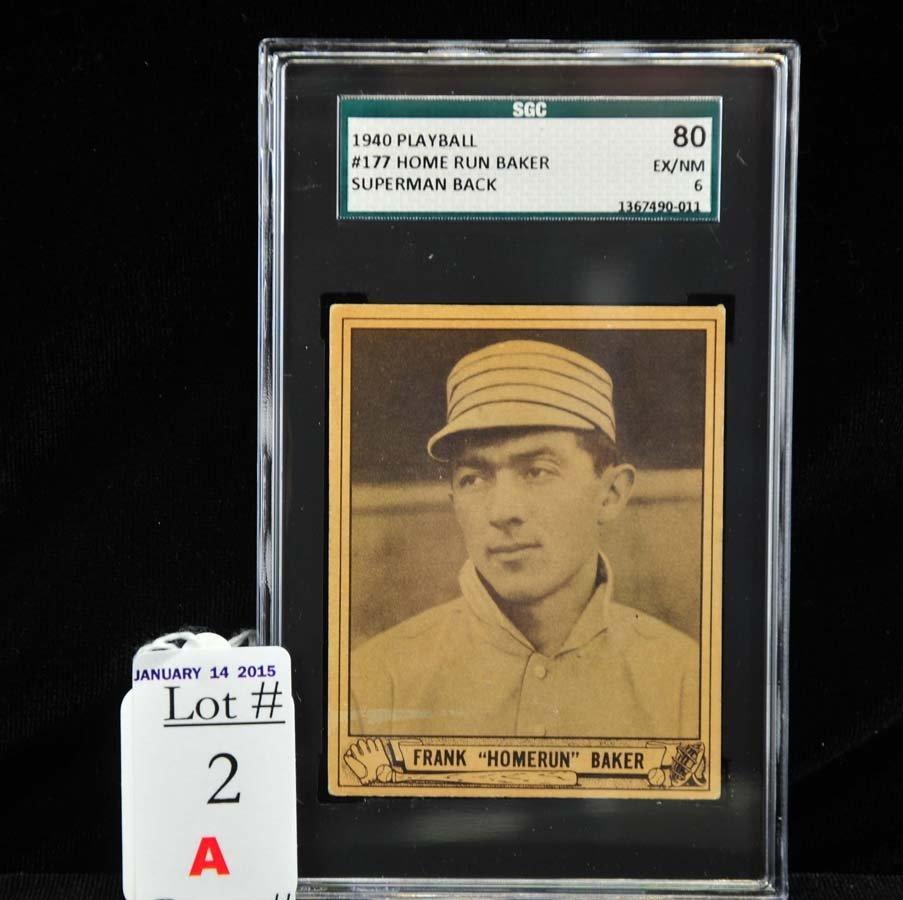 1940 Playball Homerun Baker SGC 80 NM 6