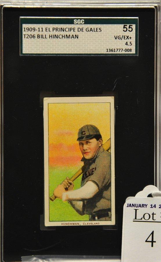 1909-11 T206 Bill Hinchman