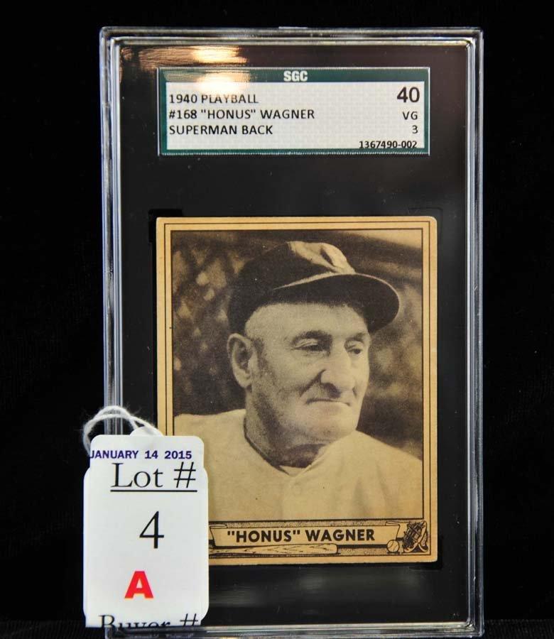 1940 Playball Honus Wagner SGC 40 VG 3
