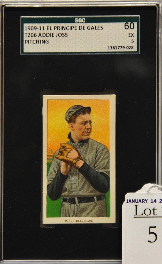 1909-11 T206 Addie Joss Pitching