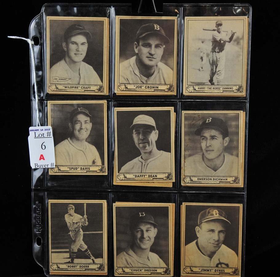 17 1940 Playball cards