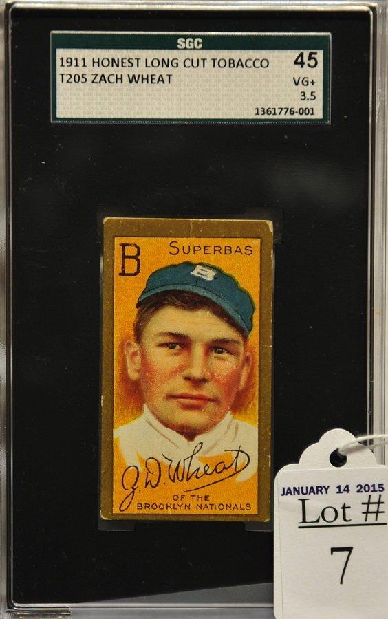 1911 T205 Zach Wheat