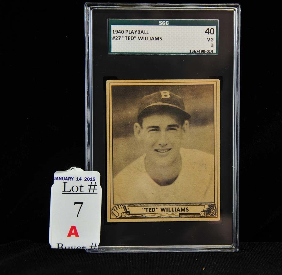 1940 Playball Ted Williams SGC 40 VG 3