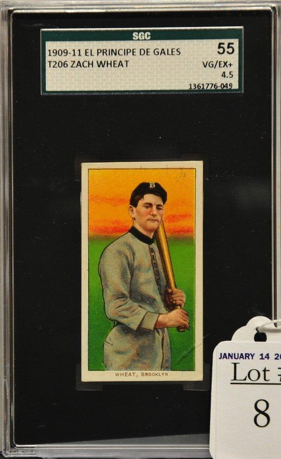 1909-11 T206 Zach Wheat