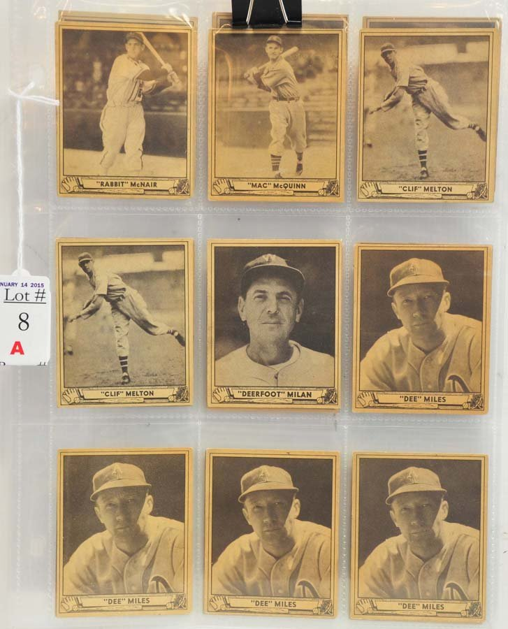 18 1940 Playball cards