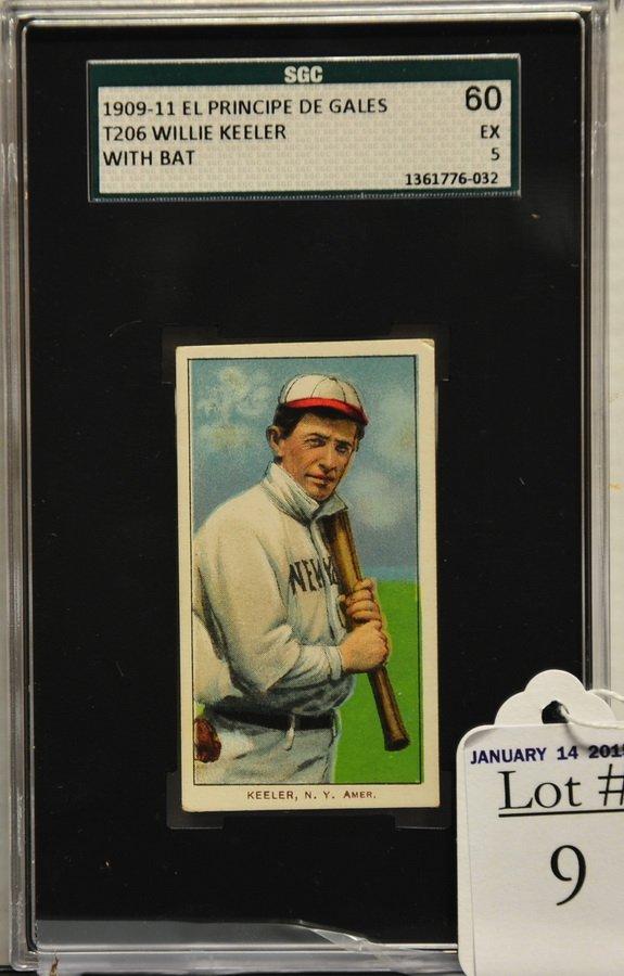 1909-11 T206 Willie Keeler With bat