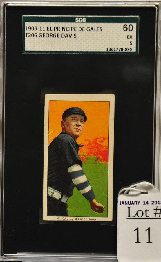 1909-11 T206 George Davis