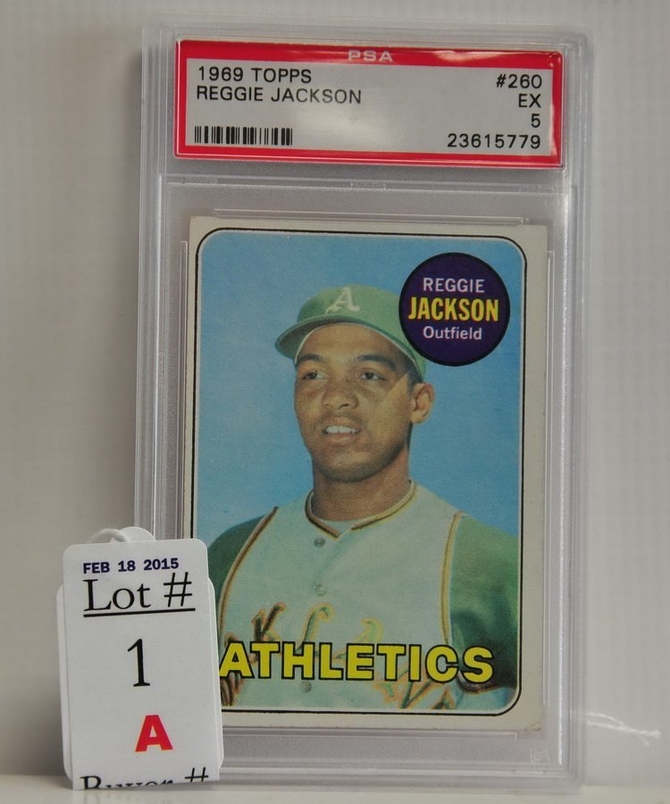 1969 Topps Reggie Jackson Rookie PSA 5