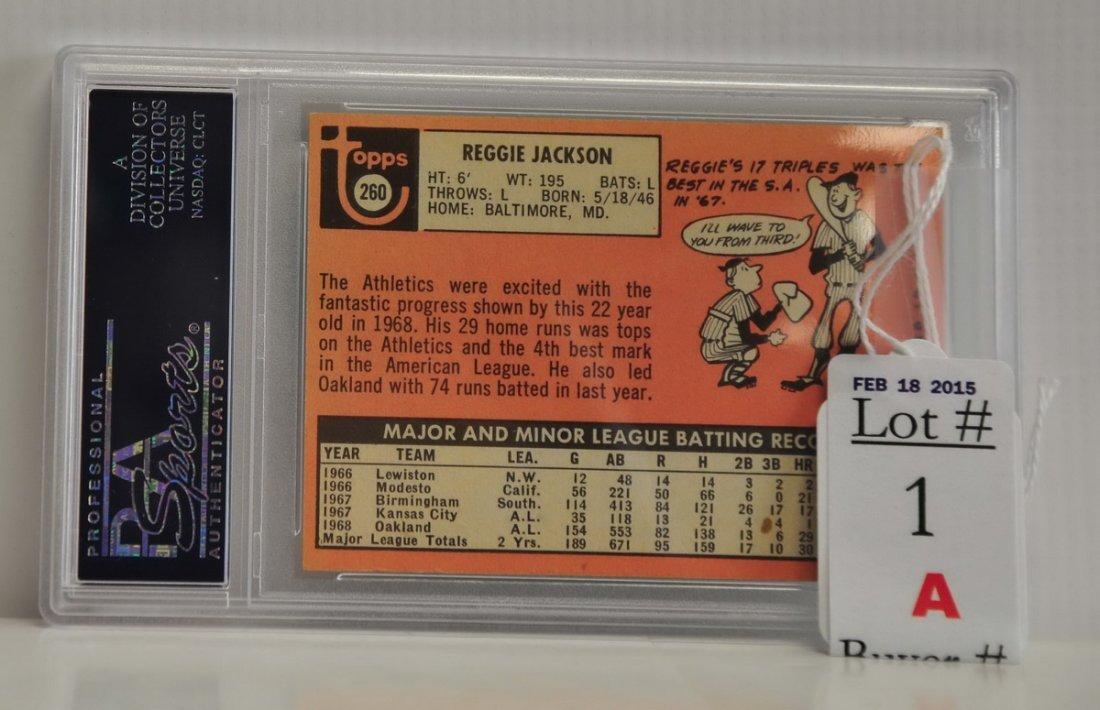 1969 Topps Reggie Jackson Rookie PSA 5 - 2