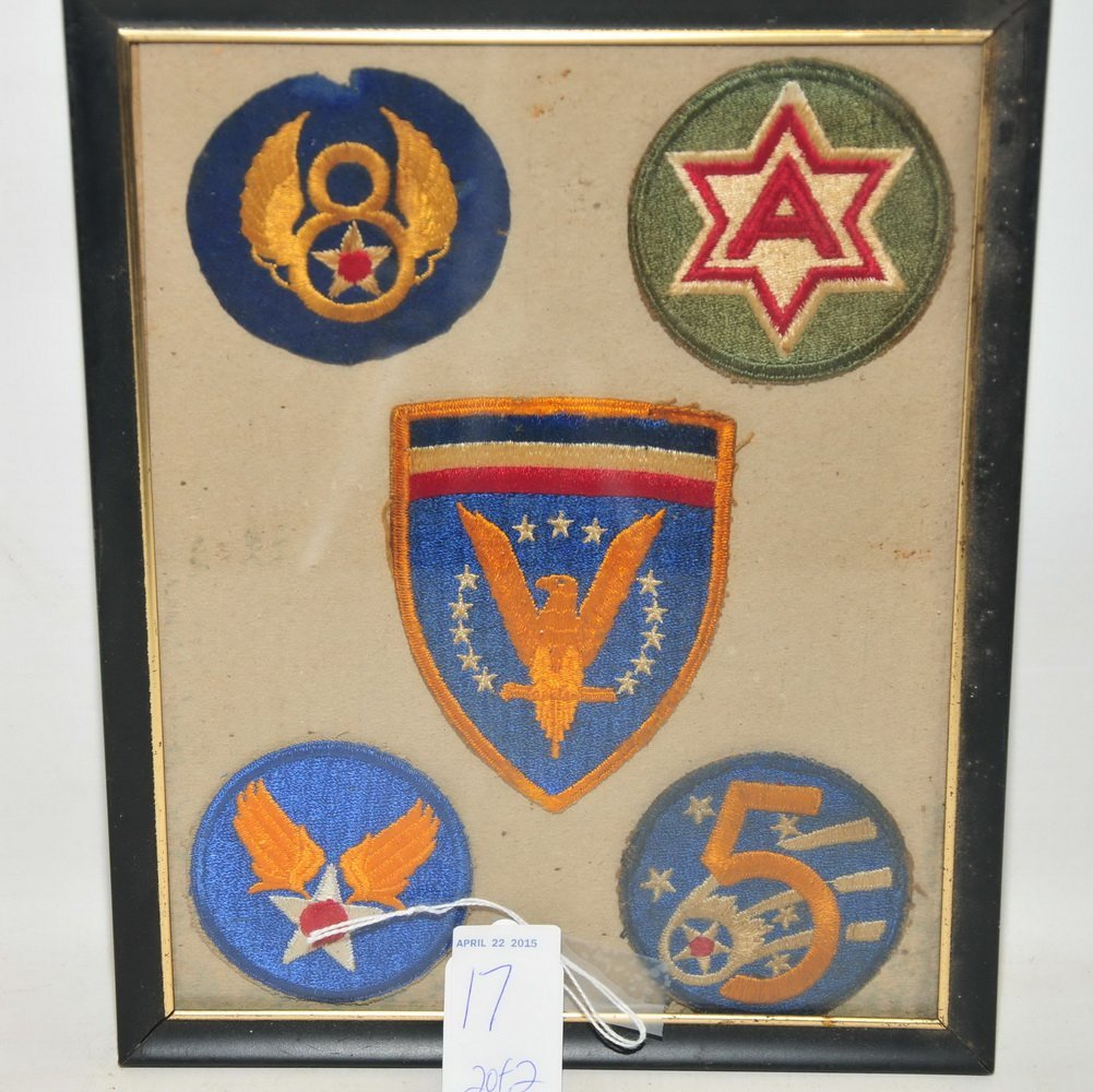 Two Framed Patch Displays WWI