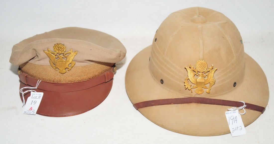 WWII Cap and Pith Helmet
