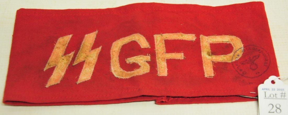 (Secret Field Police) Nazi SS GFP Armband