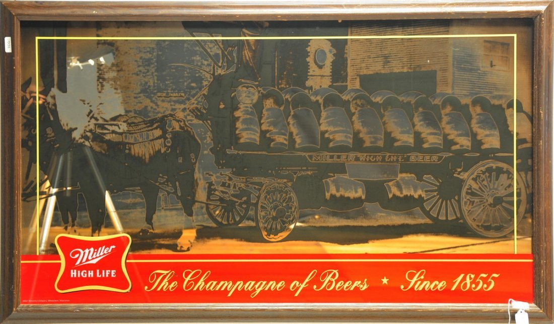 Framed Miller High Life The Champagne of beers