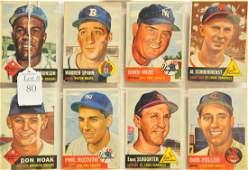 8 1953 Topps HOFStars Cards