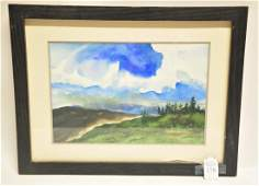 Watercolor on Paper by V Knuble 12x8