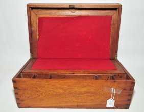 Antique Dovetail Lap Desk 17x10