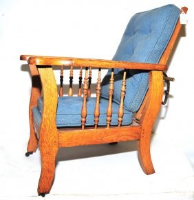 Child's Oak Morris Chair