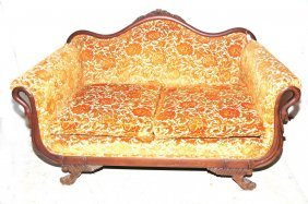 Victorian Settee Floral Love Seat.