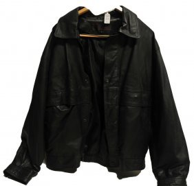Leather Motorcycle Vest, Pants And Jacket