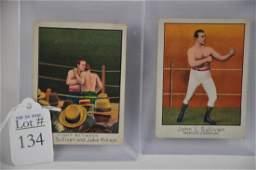 Two 1910 John L. Sullivan Boxing Cards