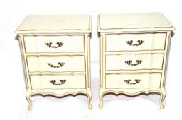 Pair of matching French Provincial night stands