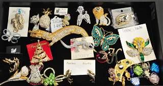Gaudy costume jewelry