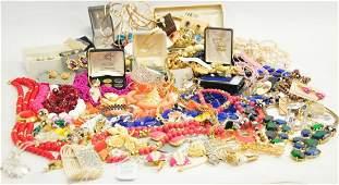 Large box of costume jewelry