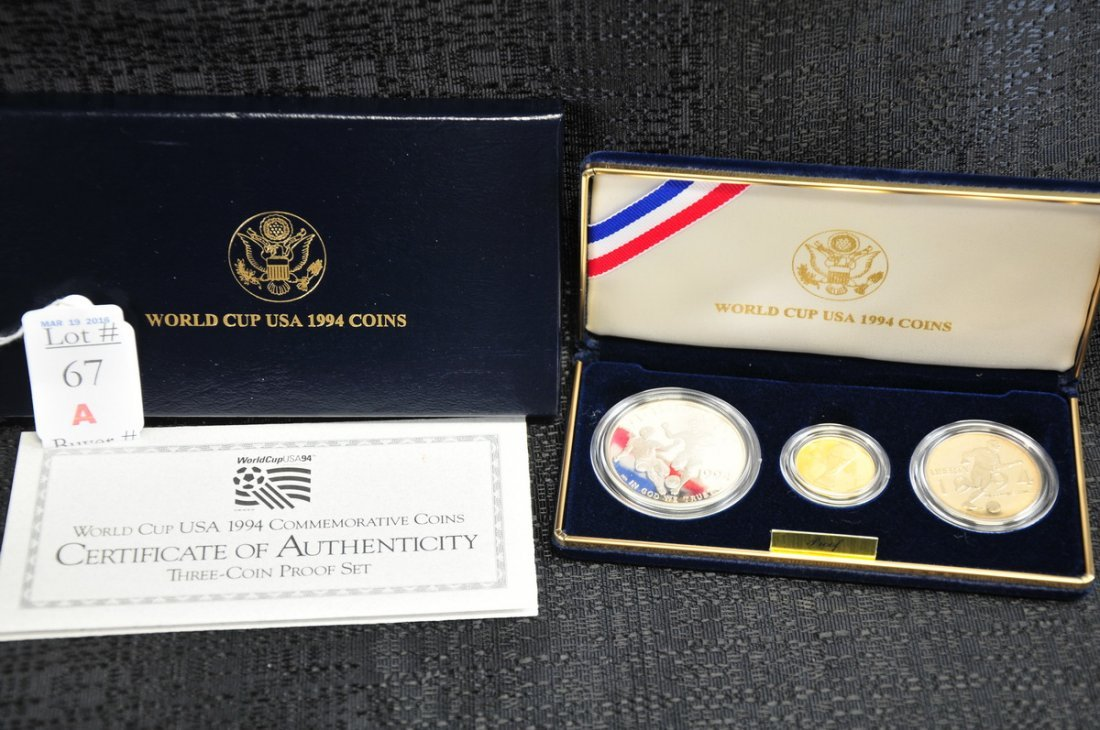 1994 World Cup Gold and Silver Proof Set