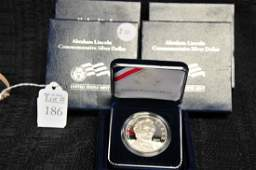 5 2009 Abraham Lincoln Proof Silver Dollars