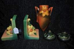 Collection of Roseville pottery pieces
