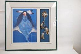 Native American Framed Art Piece