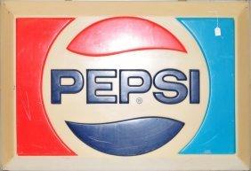 Vintage Pepsi Light Up Sign 52x37
