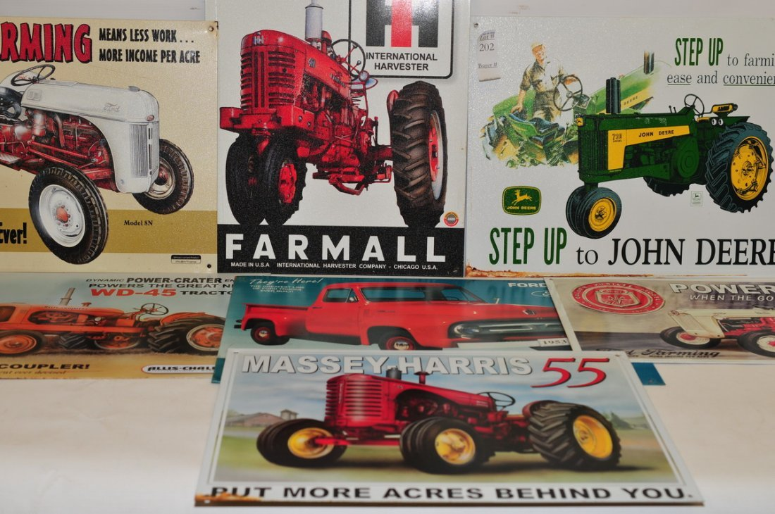 11 Modern Auto and Tractor Tin Signs - 2