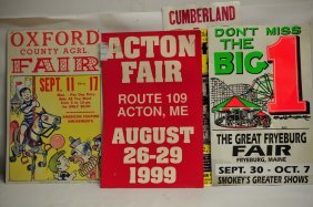 Collection Of 6 Maine Fair Broadsides