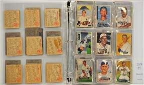 Album of 123 Bowman Baseball Cards 194855